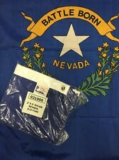 "Nevada State Flag ""Made in Usa"" 3' X 5' Nylon Nos"