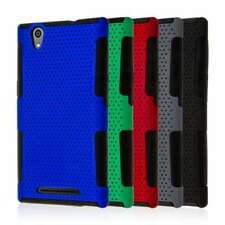 for ZTE ZMAX (Z970) Dual Layer Silicone Soft Flexible Skin Mesh Case Cover