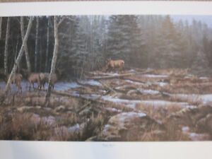 HIGH TIMBER -  A NRA PRINT BY PACO YOUNG  - ELK PRINT