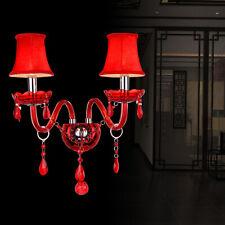 Led Modern Crystal Wall Light Sconce Porch Hallway Bedroom Lamp Lighting Fixture