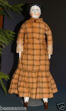 "Antique 18"" 1880s - 1890s China Doll Head Body Antq Clothes Dress AD5111586wi"