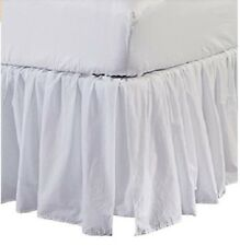 Solid White Split Corner Ruffle Bed Skirt 600 Tc Egyptian Cotton with Flap