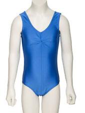 Vêtements justaucorps bleu sans manches pour fille de 2 à 16 ans
