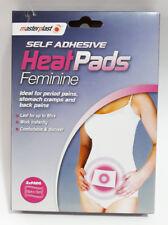 NEW Masterplast Self Adhesive Feminine Heat Pads For Pains & Cramps Pack of 2 UK