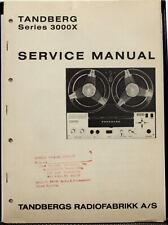 Tandberg Series 3000X Service Manual - Original