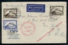 Germany, 1929 Zeppelin Round-the-World flight cover franked w/4mk (2) + 2mk, Vf