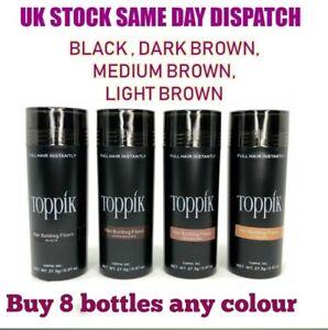 Toppik Hair Building Fibres 27.5 - Buy 8 Bottles Any Colour -Same Day shipping