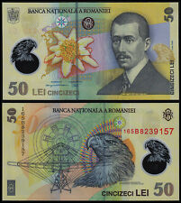 ROMANIA 50 LEI (P120f) 2005 (2016) POLYMER UNC