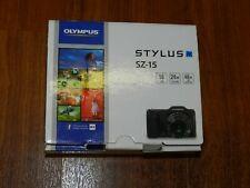 Neu Offene Box - Olympus Stylus SZ-15 16.0MP Digitalkamera - Schwarz -
