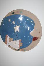 New listing Kimberly Smith Kimberley Sand/Glass Art Wall Hanging Plaque Angel Moon Stars