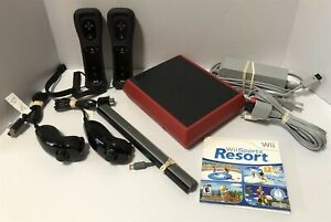 Nintendo Wii Mini 8GB Red Console Bundle- Controllers+ Wii Sports Resort +MORE!!