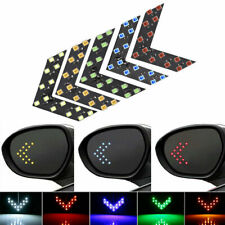 1Pair Car 14-SMD LED Arrow Lights for Car Side Mirror Turn Signal Accessories