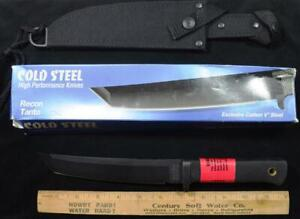 Vintage Cold Steel Recon Tanto made in USA Carbon V Steel New in Box w sheath