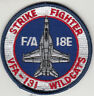 VFA-131 WILDCATS F/A-18E STRIKE FIGHTER SHOULDER PATCH