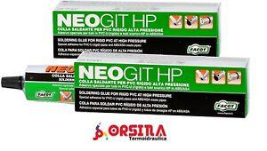 Colla per tubo in plastica PVC alta pressione o scarico Neogit Facot 125 grammi