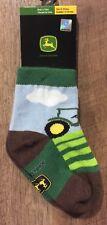 John Deere Baby Boys (6-12 mos) Socks Green Blue Cotton Blend Tractor Field