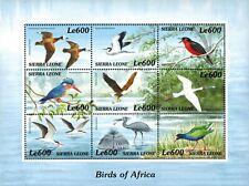 VINTAGE CLASSICS - Sierra Leone 2242 - Birds of Africa - Sheet of 9 - MNH