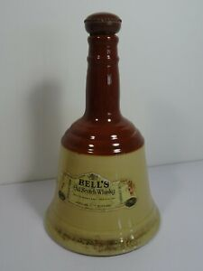 Bell's Old Scotch Whisky Perth Scotland Ceramic Bell Shape Vintage Decanter