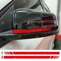 RED Mercedes Benz Brabus Wing Mirror Decals Stickers