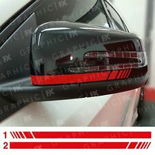 RED Mercedes Benz Brabus Wing Mirror Decals Stickers