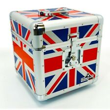 "Gorilla LP 100 12"" Vinyl Record Storage Box Flight Carry Case UNION JACK"