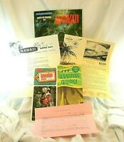 Vintage 1966 Lot of 6 Hawaii Travel Brochures & Letters Pan Am Letterhead