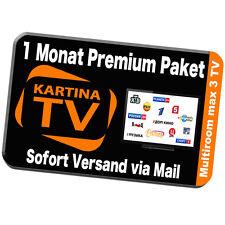 Kartina TV 1 Monat  FULL HDTV IPTV RUSS 3-1 Multi-Abo Russkoe TB 14-Tage Archiv