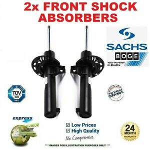 2x SACHS BOGE Front SHOCK ABSORBERS for FIAT DUCATO Box 130 Multijet 2.3D 2006->