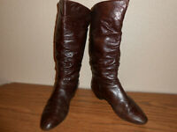 Miz Mooz Brown Leather Slouch Boots By Gazith 8M