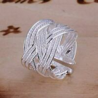 Women's Ring 925 Sterling Silver Plated Size Open Thumb Finger Fashion Jewelry