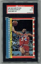 1987-88 Fleer Stickers 6 Charles Barkley Signed Card SGC Auto Sticker 76ers