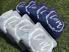 !FREE SHIPPING! 8 Laurel Monogram Custom Cornhole Bag Set