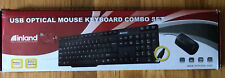 Inland 70126 USB Optical Mouse Keyboard Combo Set Black