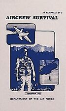 USAF Air Force Aircrew Survival Book Camping, Hunting, Outdoorsman AF 64-5  1408