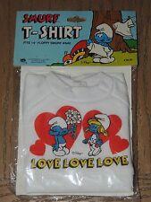 "1981 SMURF T-SHIRT LOVE #5630 fits 14"" Floppy Plush Doll NEW"