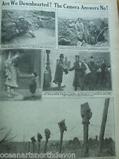 ANTIQUE PRINT 1917 THE WAR ILLUSTRATED ARE WE DOWNHEARTED? MILITARY NEWSPAPER