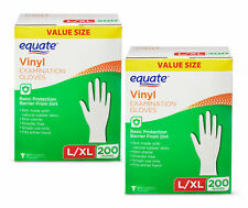2 Pack Vinyl Examination Gloves All-purpose Powder Free Non-sterile L/XL 400 Ct