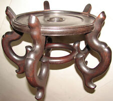 Large Chinese Wood Pot Base, Planter Floor Display Stand 13""