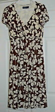 """""""American Living"""" - Brown and Ivory Tea Length Dress - Size 6"""