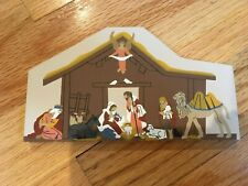 Cat's Meow Village Lot of 2 pcs Nativity Manger & Shepherds - 1 of Many, Look!