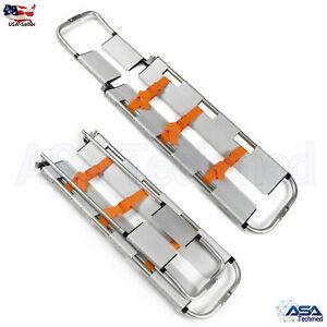EMT Backboard Spine Board Stretcher Immobilization Kit Lightweight Scoop Type