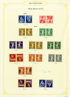 Switzerland Tete-Beche Gutter 1908 to 1960 Stamp Collection Mostly Mint Pairs