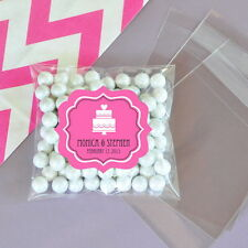 24 Mod Wedding Personalized Clear Candy Bags Bridal Shower Wedding Favors
