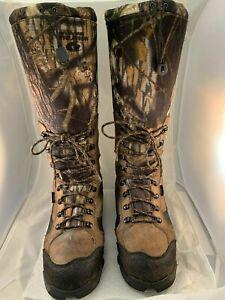 """17"""" Redwing Snake Guard Boots Mossy Oak Camo Leather 10.5 Wide Waterproof"""