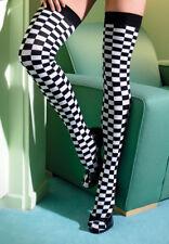 42edb49e806 OPAQUE NASCAR CHECKERED FLAG Checker Board Stockings BLACK WHITE O S
