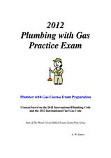 2012 International Plumbing Code w/Gas Practice Exam on USB Flash Drive