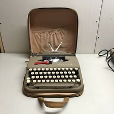 Vintage 1950s Smith Corona Skyriter Portable Typewriter with Case