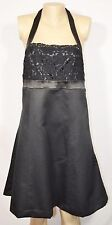 TARGET LIMITED EDITION Black Halter Dress 12 Lace Bodice Satin Trim Unlined