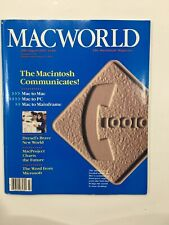 MACWORLD Magazine July / August 1984 MacWrite MacProject Telecommunications GUC