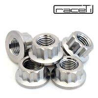 M10 x 1.25 Titanium Bi Hex Flange Nut 12 point Ti sprocket gr5 CNC Ducati 6 Pack
